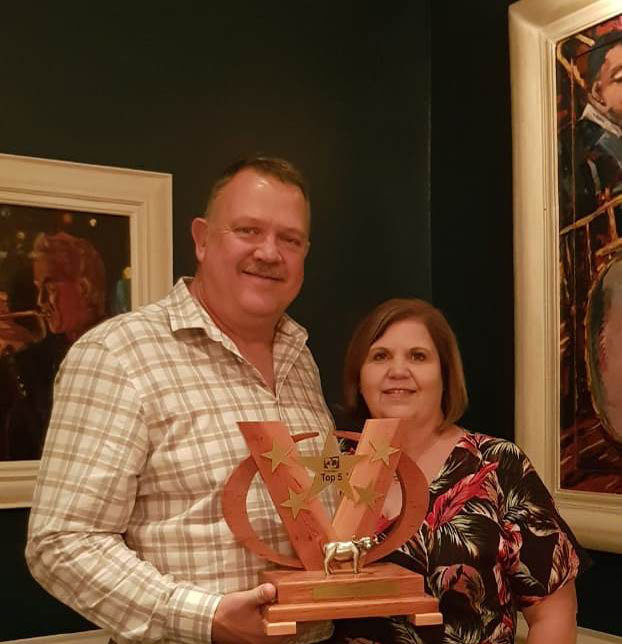 Daan Bronkhorst, MD of Hinterland, with his wife Alet Bronkhorst.