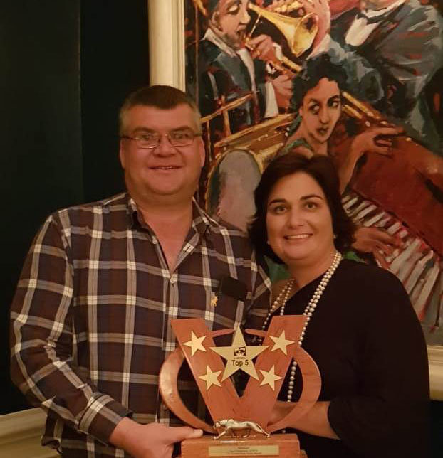 Stefan Oberholzer, MD of OVK, with his wife Carlien Oberholzer