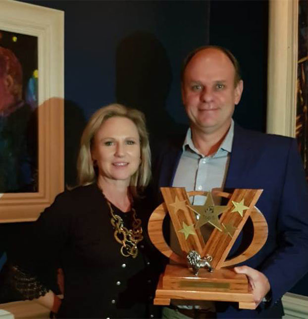 Andre Myburgh, MD of TWK, with his wife Cecile Myburgh