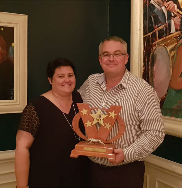 Francois Swanepoel, Executive Director: Commercial of VKB, with his wife Marlene Swanepoel